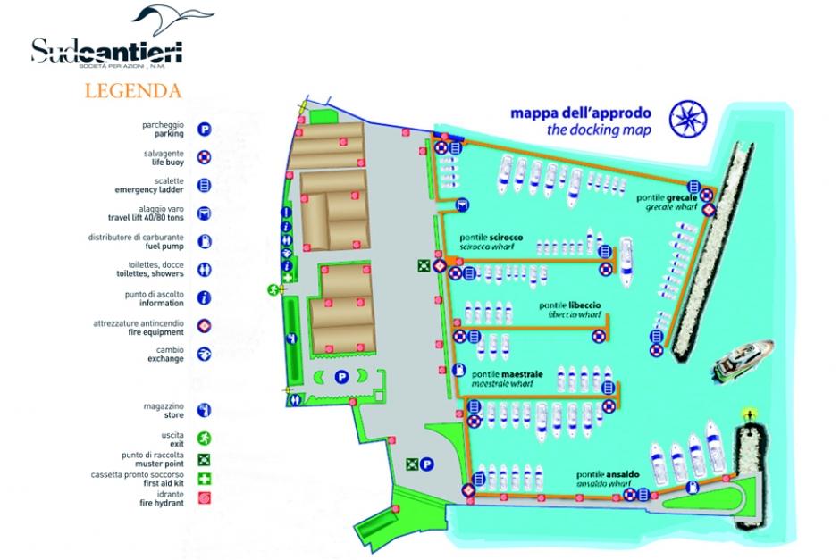 map Sud Cantieri   -  Marina di Maglietta